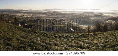 Bela Krajina, Slovenia, Eu - December 9, 2018: Panoramic View Of Bela Krajina Located In Slovenia