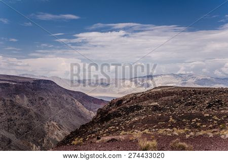 View Of The Panamint Mountains In Death Valley National Park