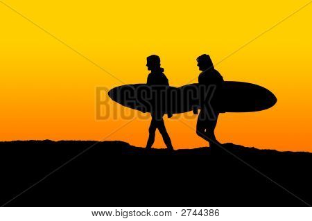Morning Surfers