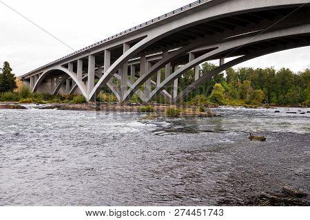 Middle Fork Willamette River Interstate 5 Bridge Eugene Oregon