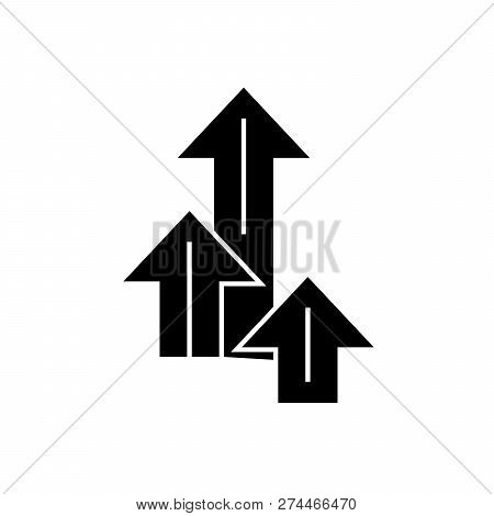 Opportunity Concept Black Vector Concept Icon. Opportunity Concept Flat Illustration, Sign