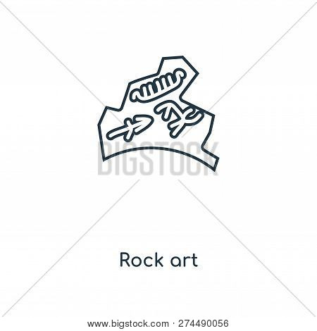 Rock Art Icon In Trendy Design Style. Rock Art Icon Isolated On White Background. Rock Art Vector Ic