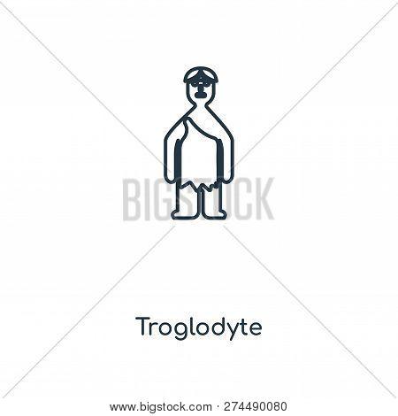 Troglodyte Icon In Trendy Design Style. Troglodyte Icon Isolated On White Background. Troglodyte Vec