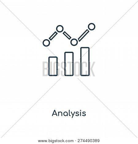 Analysis Icon In Trendy Design Style. Analysis Icon Isolated On White Background. Analysis Vector Ic