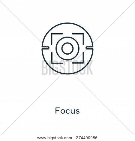 Focus Icon In Trendy Design Style. Focus Icon Isolated On White Background. Focus Vector Icon Simple