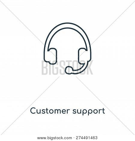 Customer Support Icon In Trendy Design Style. Customer Support Icon Isolated On White Background. Cu