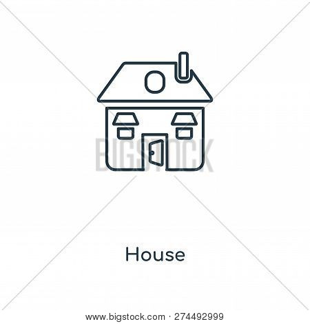 House Icon In Trendy Design Style. House Icon Isolated On White Background. House Vector Icon Simple