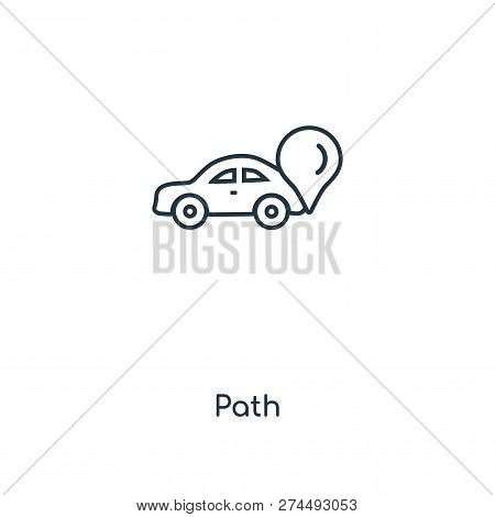 Path Icon In Trendy Design Style. Path Icon Isolated On White Background. Path Vector Icon Simple An