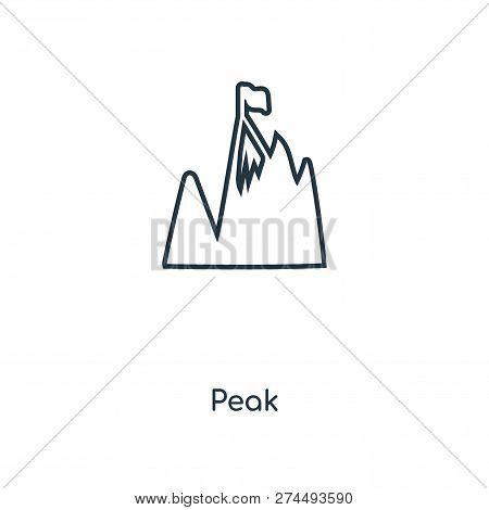 Peak Icon In Trendy Design Style. Peak Icon Isolated On White Background. Peak Vector Icon Simple An