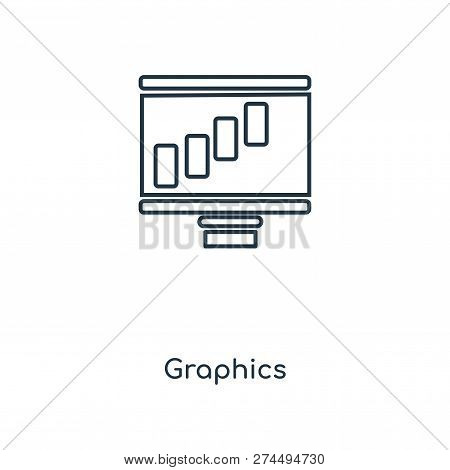 Graphics Icon In Trendy Design Style. Graphics Icon Isolated On White Background. Graphics Vector Ic