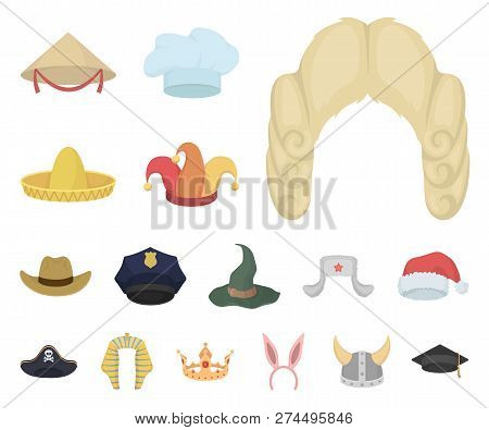 Different Kinds Of Hats Cartoon Icons In Set Collection For Design.headdress  Vector Symbol Stock 6eb9994a82f0