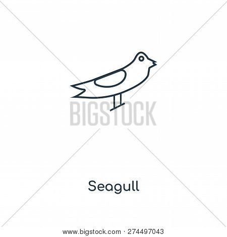 Seagull Icon In Trendy Design Style. Seagull Icon Isolated On White Background. Seagull Vector Icon