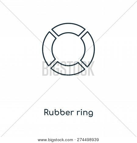 Rubber Ring Icon In Trendy Design Style. Rubber Ring Icon Isolated On White Background. Rubber Ring