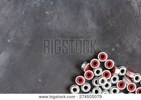 Metal Grey And Red Inside Seal Locks For Hermetization Of Carving For Liquid And Gas Fluid On The Ri