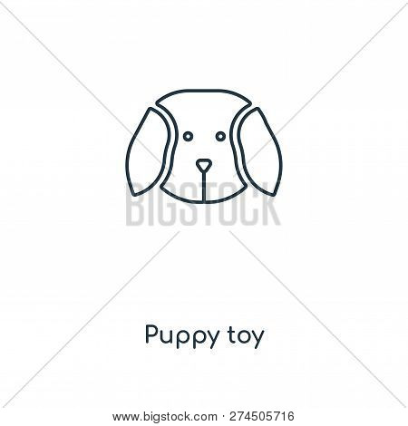Puppy Toy Icon In Trendy Design Style. Puppy Toy Icon Isolated On White Background. Puppy Toy Vector