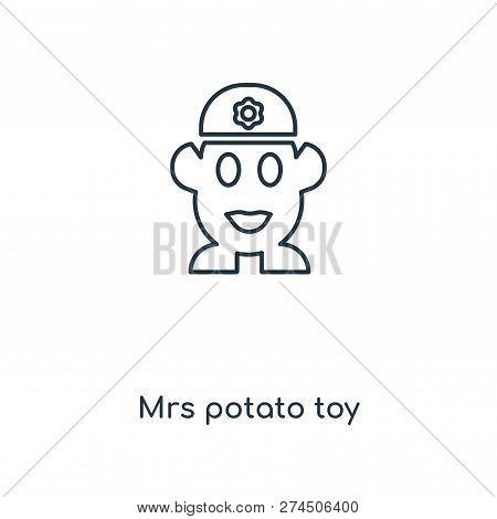 Mrs Potato Toy Icon In Trendy Design Style. Mrs Potato Toy Icon Isolated On White Background. Mrs Po