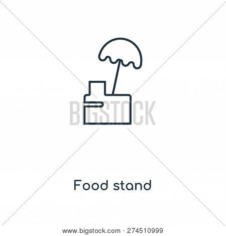 Food Stand Icon In Trendy Design Style. Food Stand Icon Isolated On White Background. Food Stand Vec