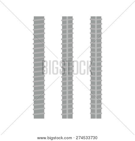 Steel rebars. Iron construction, armature vector illustration poster