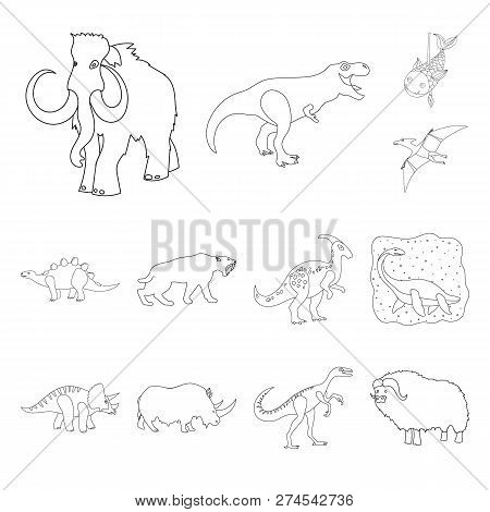 Isolated Object Of Animal And Character Sign. Collection Of Animal And Ancient  Vector Icon For Stoc
