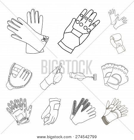 Vector Illustration Of Knitted And Keeper Sign. Set Of Knitted And Hand  Vector Icon For Stock.