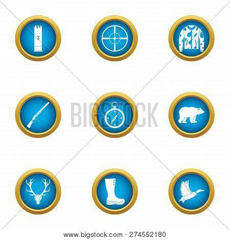 Pursue Icons Set. Flat Set Of 9 Pursue Icons For Web Isolated On White Background