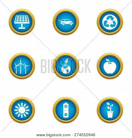 Radiant Icons Set. Flat Set Of 9 Radiant Icons For Web Isolated On White Background