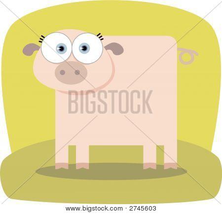 Square Animal Pig
