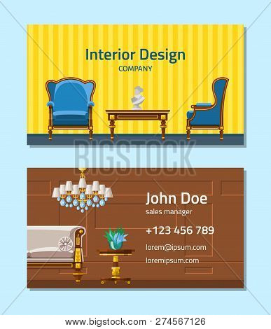 Furniture Vector Furnishings Design Of Living-room Backdrop Furnished Interior In Apartment Set Of S