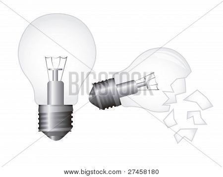 broken electric bulb