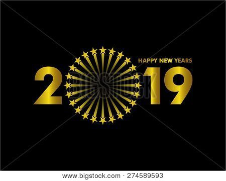 New Year 2019, 2019 New Years Image Firework, Happy New Year 2019, Gold 2019, New Year 2019 3d Rende