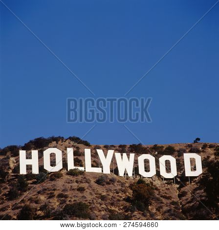 Hollywood, Usa- April 12, 2015: Located In Hollywood Hills At Mount Lee The World Famous Landmark Ho