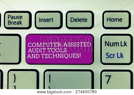 Conceptual Hand Writing Showing Computer Assisted Audit Tools And Techniques. Business Photo Text Mo