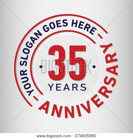 35 Years Anniversary Logo. 35th Vector And Illustration.