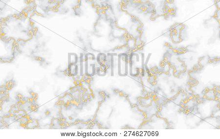 Gold Marble Texture Seamless Background. Glitter Abstract Golden Luxury Pattern. Liquid Fluid Marbli