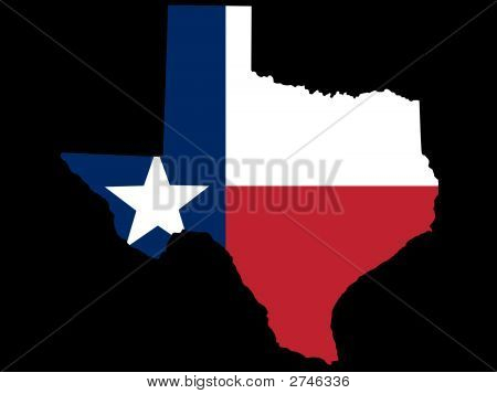 Map Flag Of Texas