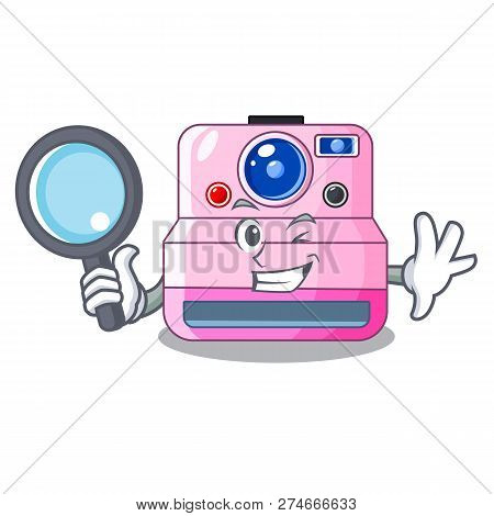 Detective Instant Camera With Revoke Cartoon Picture