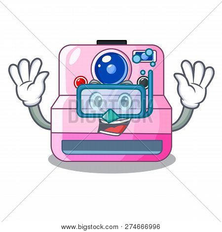 Diving Instant Camera With Revoke Cartoon Picture