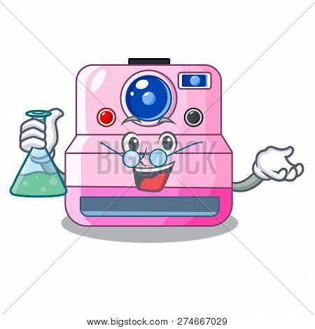 Professor Instant Camera With Revoke Cartoon Picture