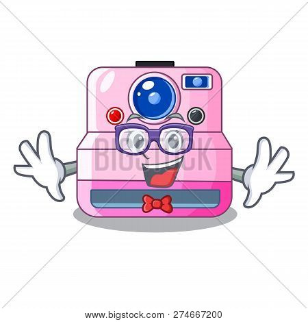 Geek Instant Camera With Revoke Cartoon Picture