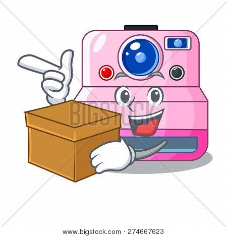 With Box Instant Camera With Revoke Cartoon Picture