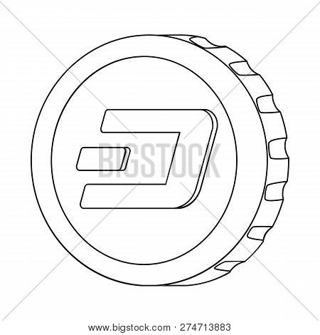Vector Illustration Of Cryptocurrency And Coin Symbol. Collection Of Cryptocurrency And Crypto Vecto