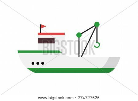 Professional Dredging Vessel. Fishery, Boat, Seiner. Can Be Used For Topics Like Transportation, Por