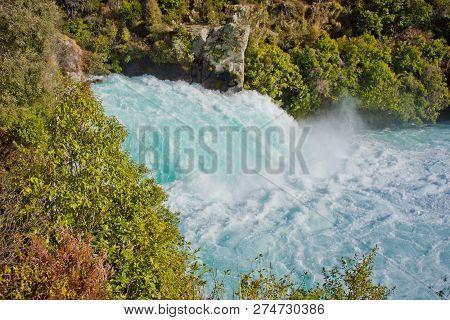 Impressive Huka Falls In Taupo In New Zealand