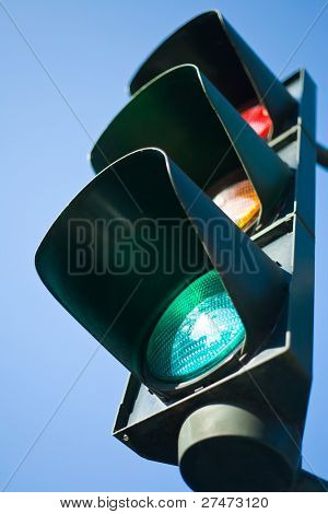 Colors of a traffic light