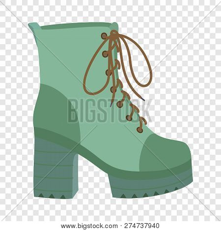 Hight Woman Boot Icon. Flat Illustration Of Hight Woman Boot Vector Icon For Web Design