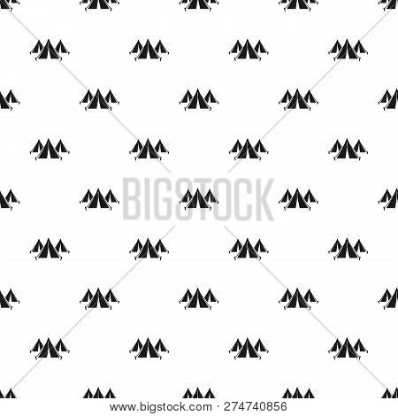 Refugee People Tent Camp Pattern Seamless Vector Repeat For Any Web Design