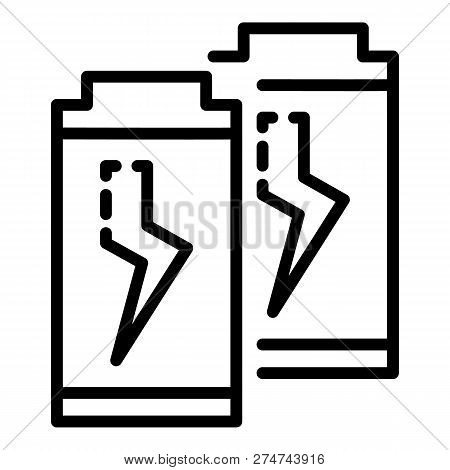 Economy Battery Icon. Outline Economy Battery Vector Icon For Web Design Isolated On White Backgroun