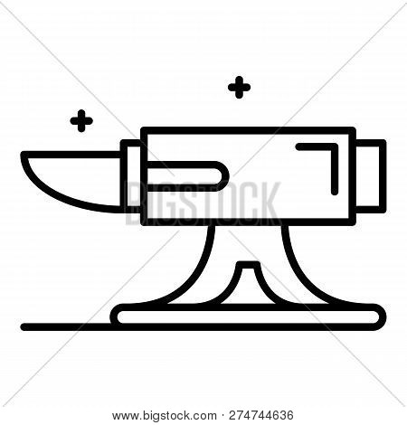 Metal anvil icon. Outline metal anvil vector icon for web design isolated on white background poster