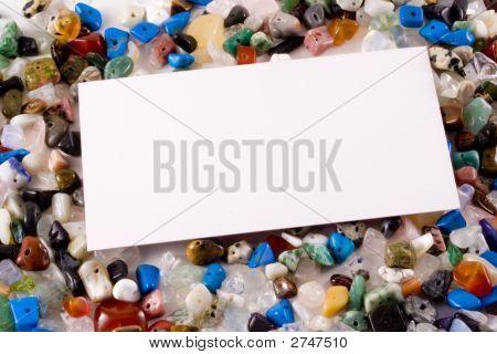 Business Card On Semi-Precious Stones