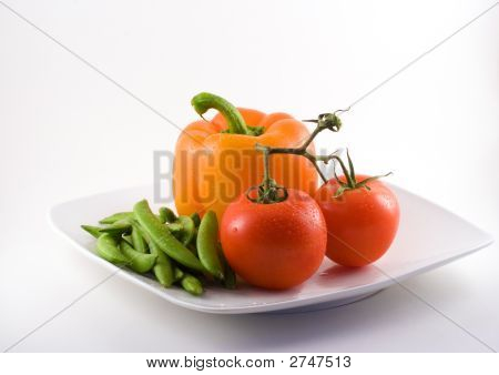 Plate Of Healthy Foods